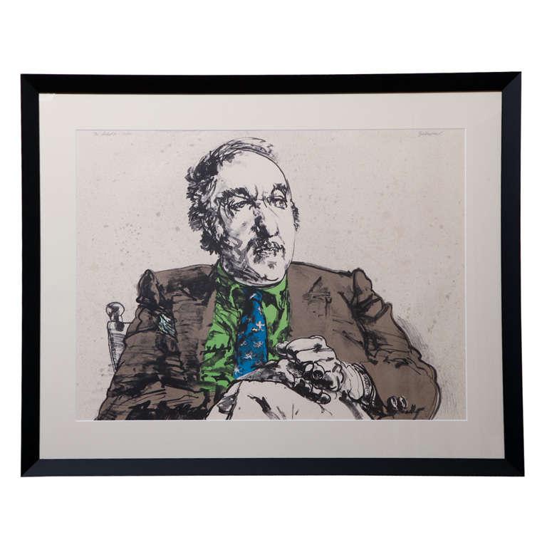 Harvey Breverman Lithograph