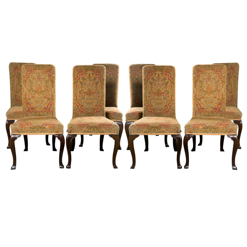 Eight Georgian Style Dining Chairs At 1stdibs
