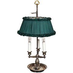 Silver Plate Bouillotte Lamp