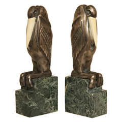 Art Deco Chryselephantine Bookends by Marcel-André Bouraine