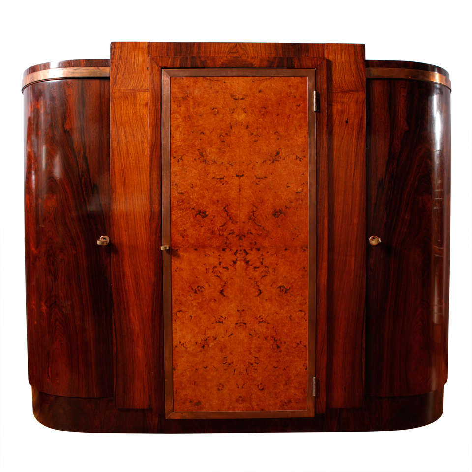 Art Deco Curved Doors Sideboard For Sale At 1stdibs