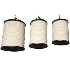 Brass and Cloth Lanterns
