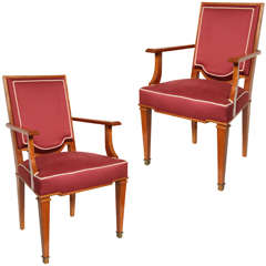 1940's Wood Armchairs