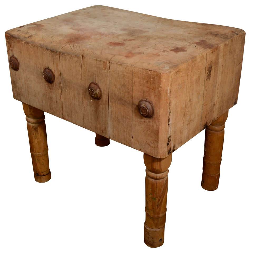 english butcher block from the early 19th century at 1stdibs. Black Bedroom Furniture Sets. Home Design Ideas