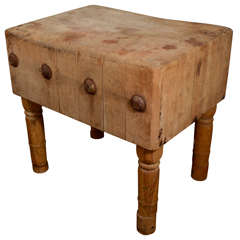 English Butcher Block from the early 19th Century