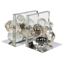 "Fontana Arte Italian, Mid-Century Glass ""Fruit"" Bookends, circa 1950"