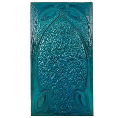 Hector Guimard for Maison Coilliot / Art Nouveau glazed lava tile 1898