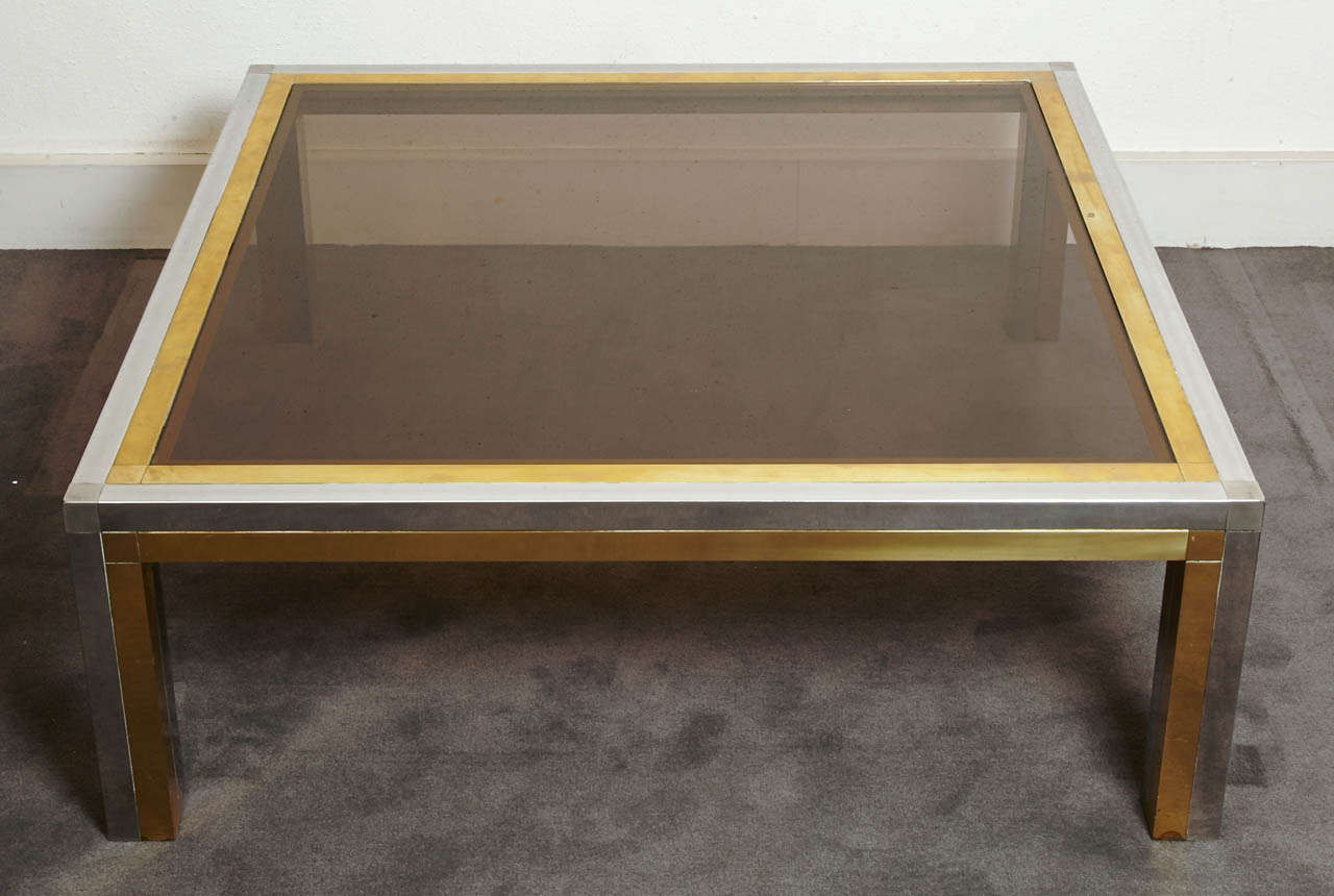 Square coffee table, France, 1970's.