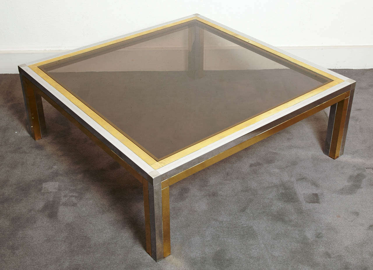 Square Coffee Table, France, 1970s In Good Condition For Sale In Paris, FR