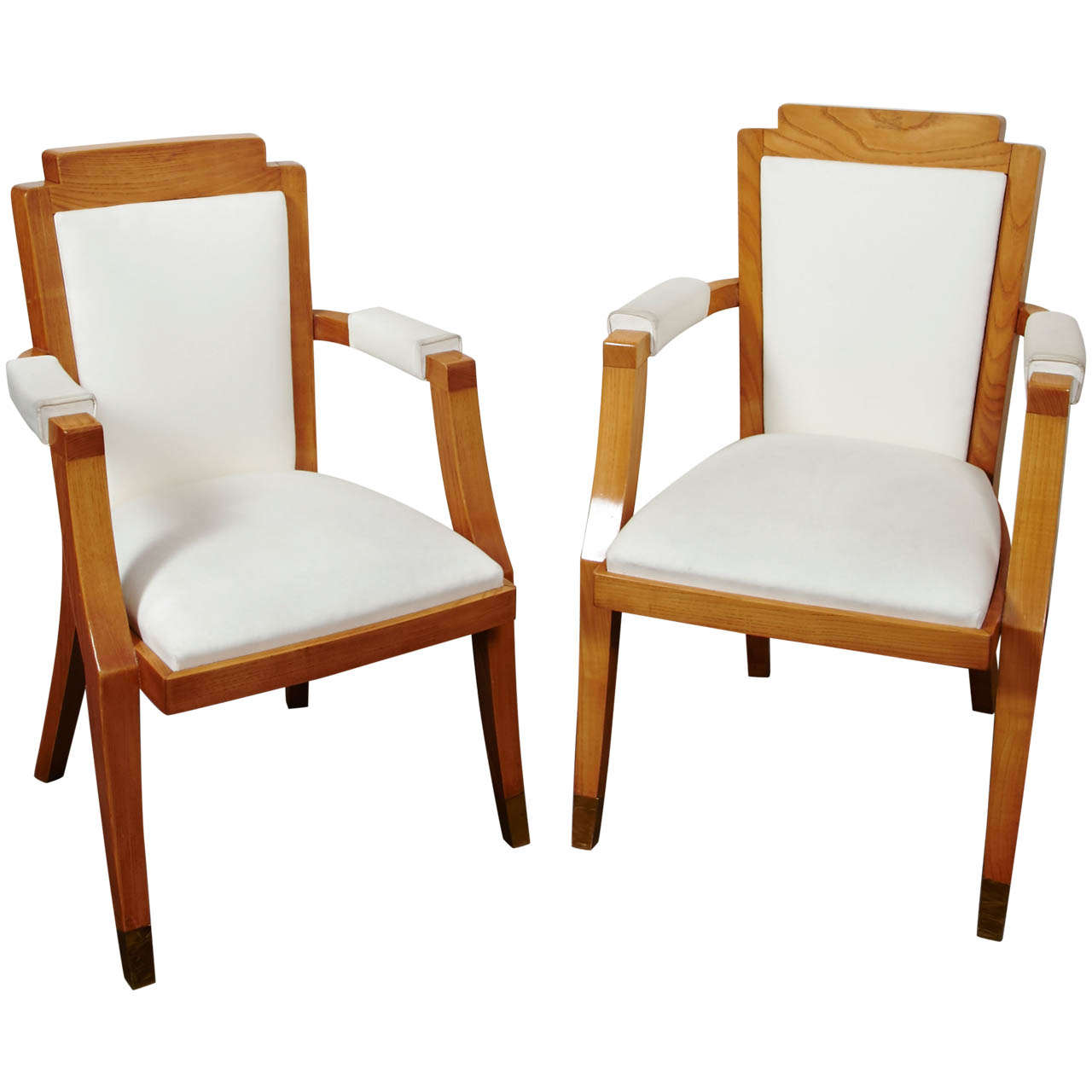 Pair of Beech Tree Armchairs by G. Darbois-Gaudin, 1949 For Sale