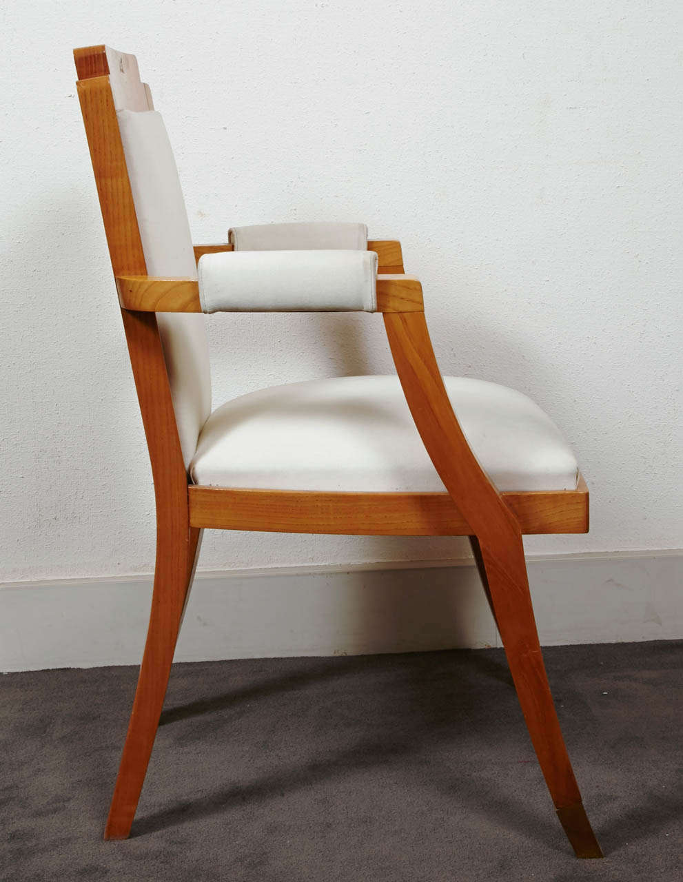 French Pair of Beech Tree Armchairs by G. Darbois-Gaudin, 1949 For Sale