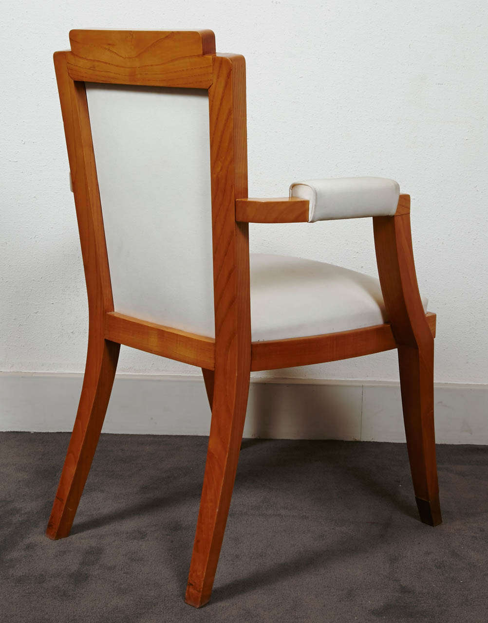 Pair of Beech Tree Armchairs by G. Darbois-Gaudin, 1949 In Good Condition For Sale In Paris, FR