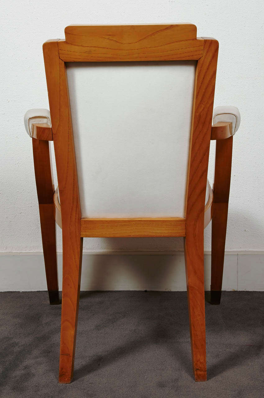 Mid-20th Century Pair of Beech Tree Armchairs by G. Darbois-Gaudin, 1949 For Sale