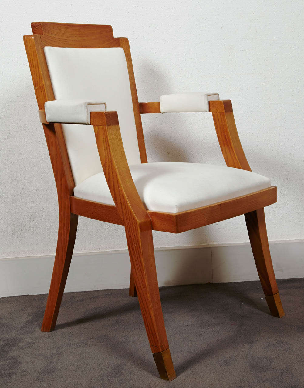 Pair of Beech Tree Armchairs by G. Darbois-Gaudin, 1949 For Sale 2