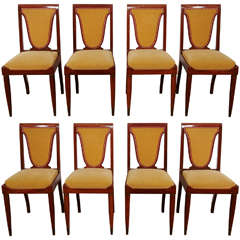 Set of Eight Mahogany Chairs, 1930's, By Christian Krass