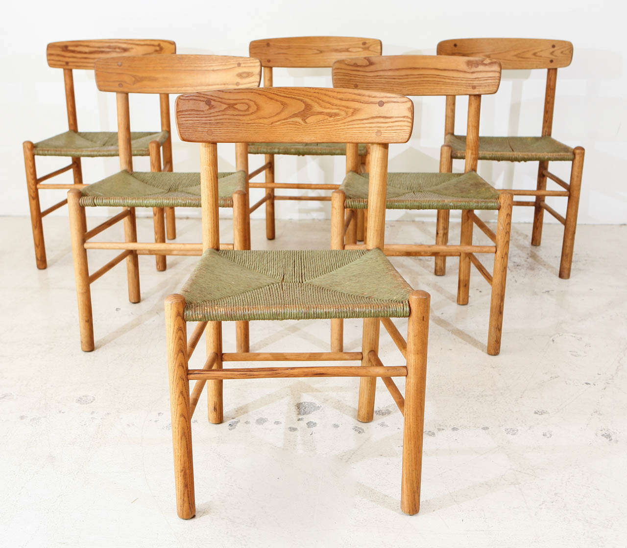 Set of 6 Early Borge Morgensen Original Shaker Chairs image 2