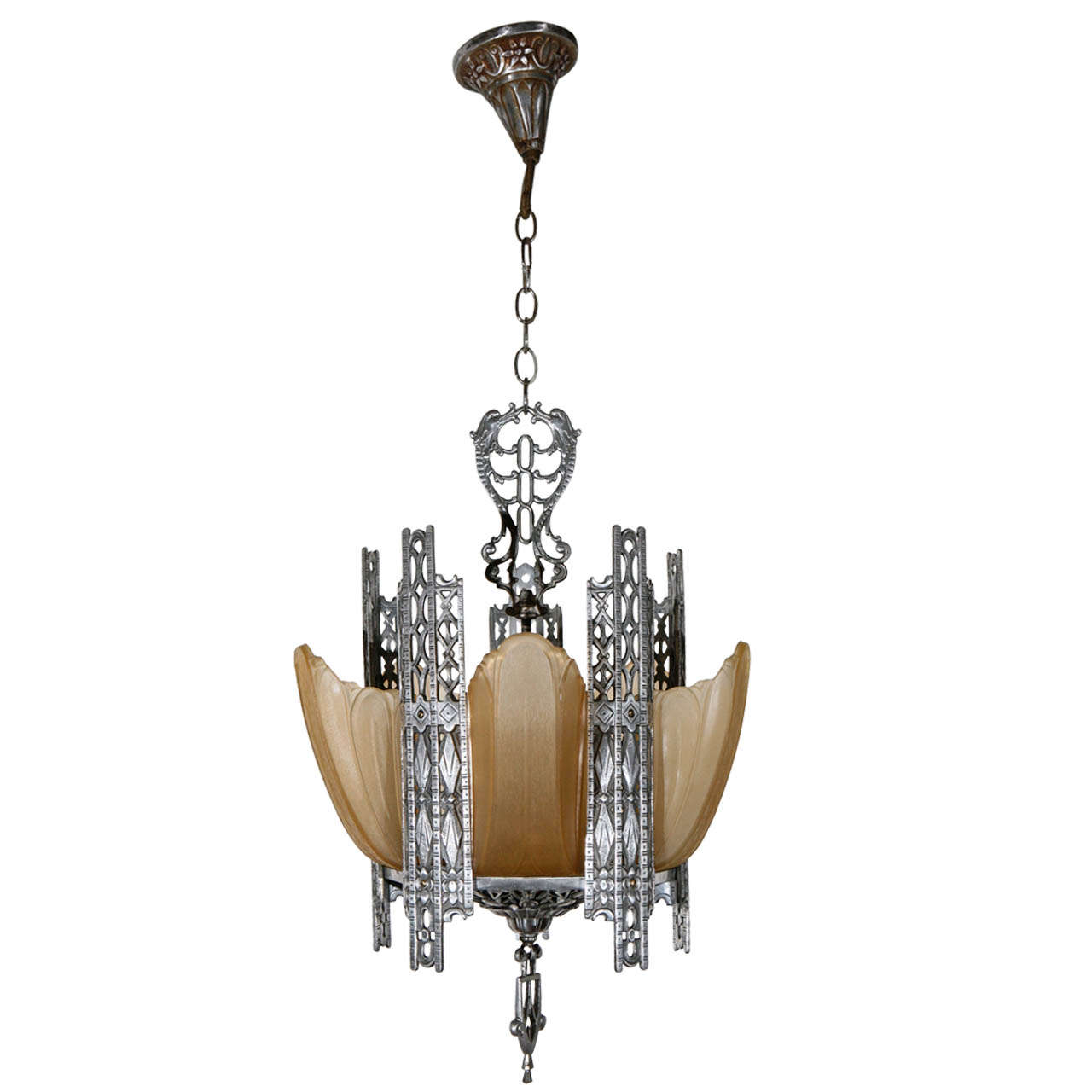 Art deco chandelier at 1stdibs for Contemporary chandeliers and pendants