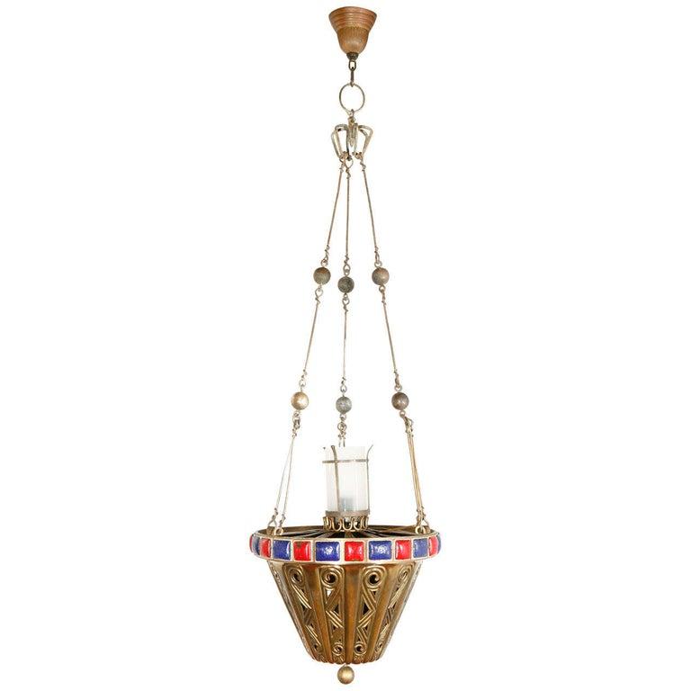 Brass Pendant For Sale