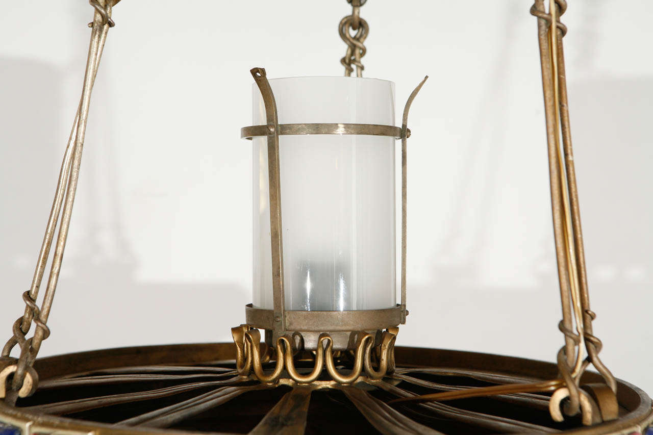 Brass Pendant In Excellent Condition For Sale In Los Angeles, CA
