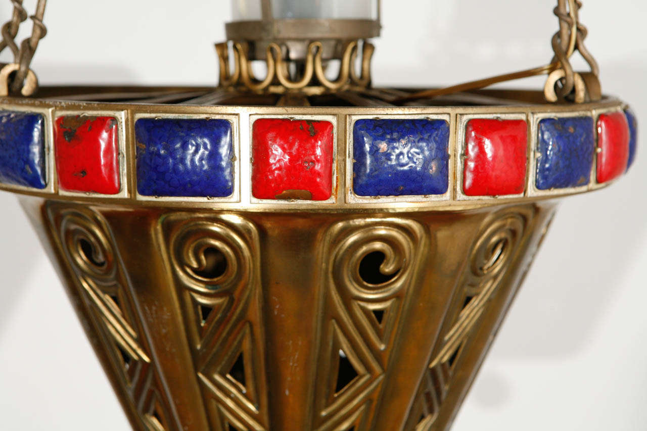 Mid-20th Century Brass Pendant For Sale
