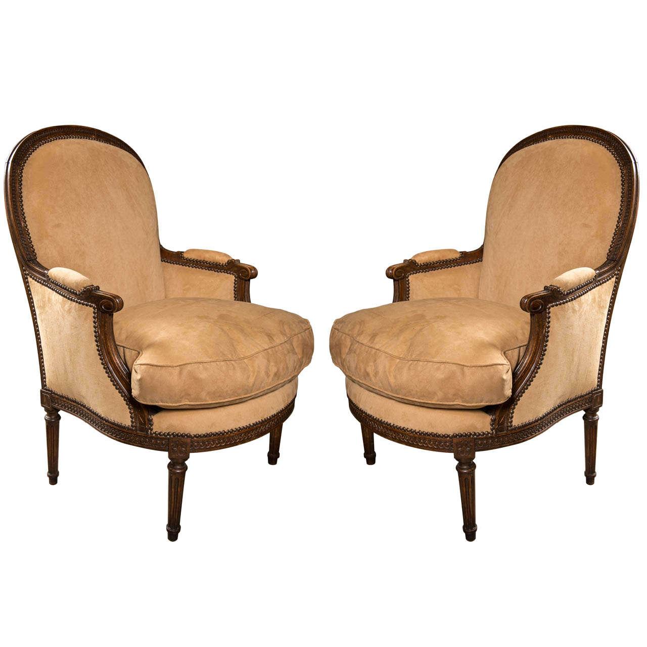 Pair Bergeres in the Louis XVI Style