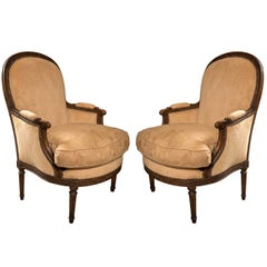 Pair Bergeres in the Louis XVI Style