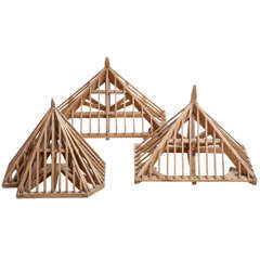 """Architectural Models of a Roof Construction """"Charpente"""""""