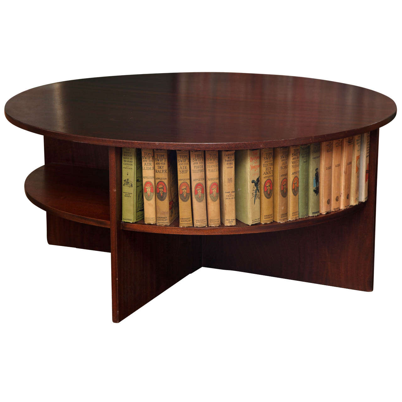 Round Solid Mahogany Coffee Table At 1stdibs