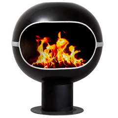 "Spherical ""Bromma"" Fireplace by Handöl, Sweden"