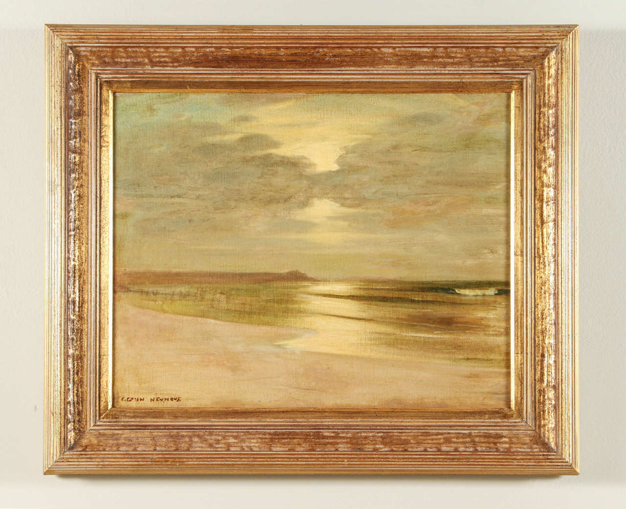 Early California Impressionist oil on canvas by Karl Eugen Neuhaus. German artist who settled in California in the early 1900s, known for his Tonalism - plein aire paintings of the California landscape. Oil on canvas. Painting fully restored.