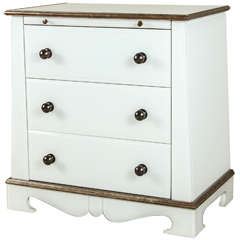 Paul Marra European Style Chest in Opaline Glass PAIR
