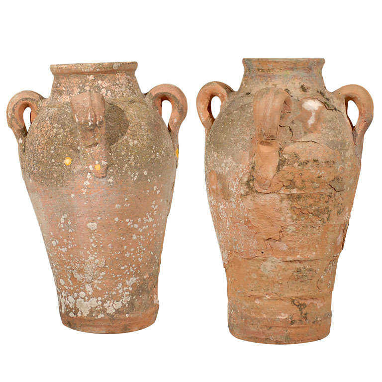 Pair of 18th Century French Four Handled Pots