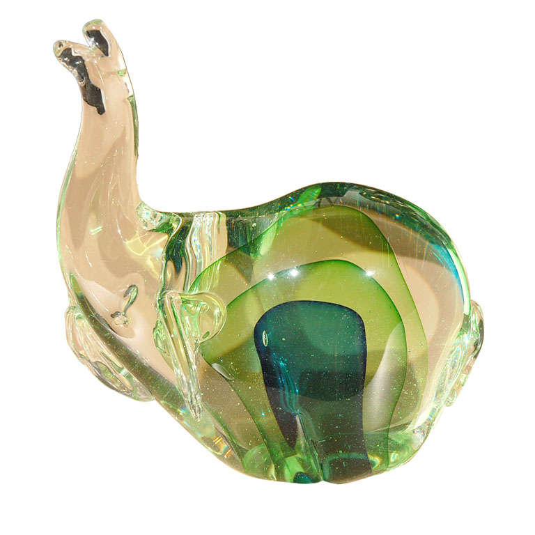 Murano Glass Elephant Sculpture