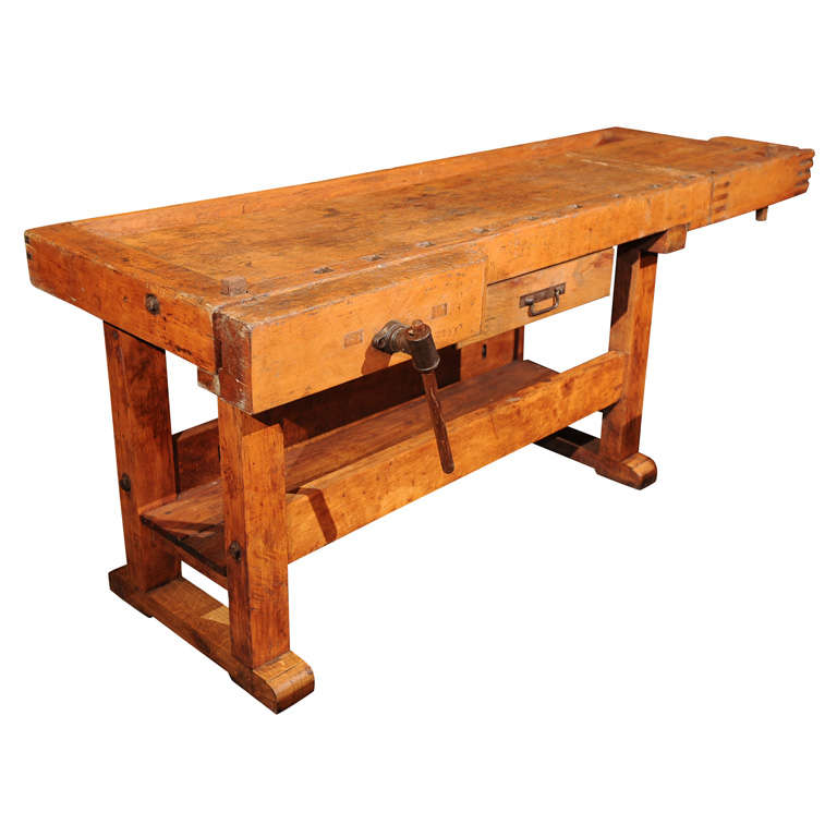 Industrial Work Bench At 1stdibs
