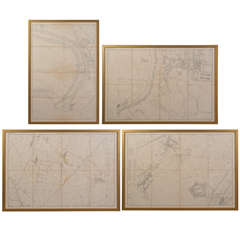 19th c. French maps of suburbs of Paris