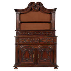 18th Century Italian Walnut Cabinet from the Piedimont Region