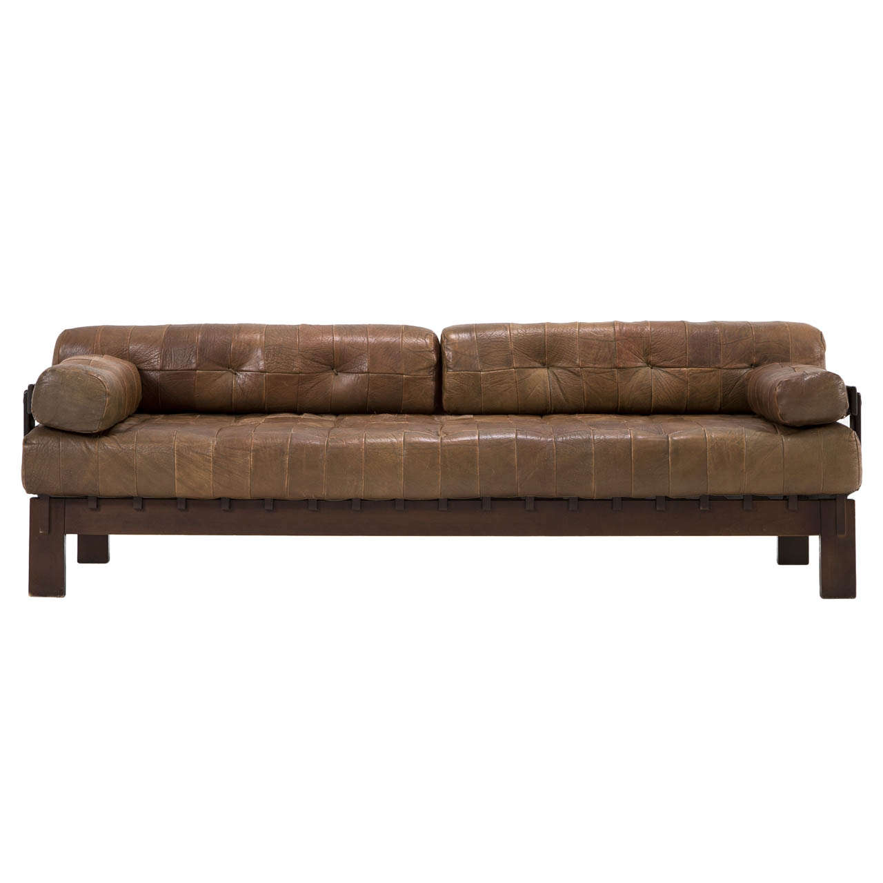 de sede buffalo leather sofa daybed at 1stdibs. Black Bedroom Furniture Sets. Home Design Ideas