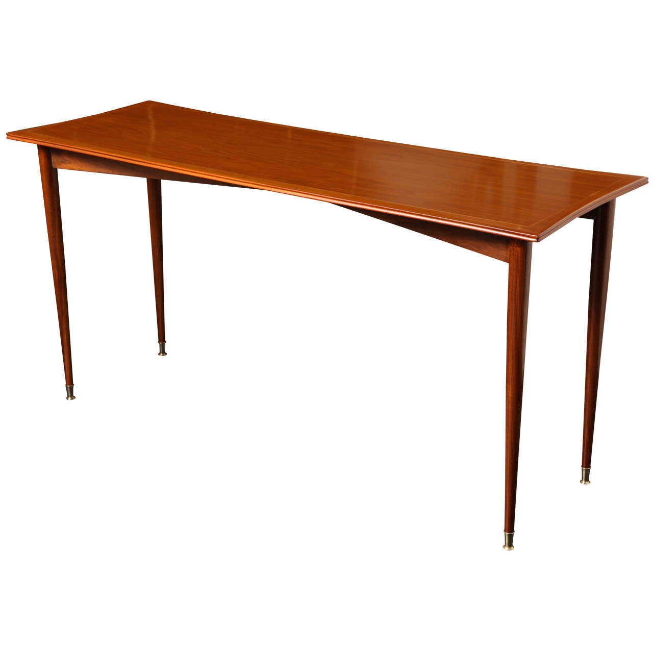 Mid 20th century walnut console in the style of gio ponti for Mid 20th century furniture