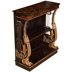 Regency Period Lyre End Console Table, English, circa 1820