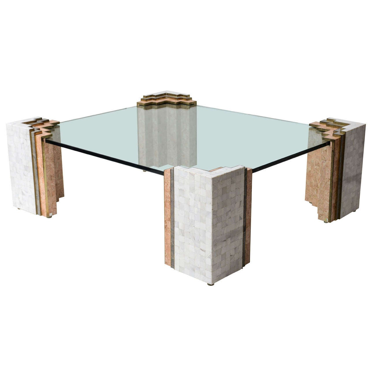 Tessellated Stone Coffee Table By Maitland Smith At 1stdibs