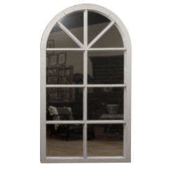 Large English Window Frame Mirror c 1880s