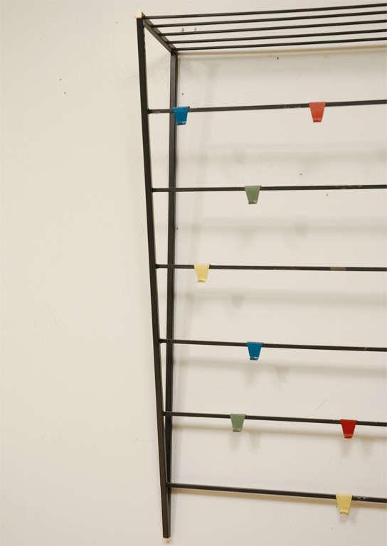 coen de vries wall mount coat rack with hat shelf 3