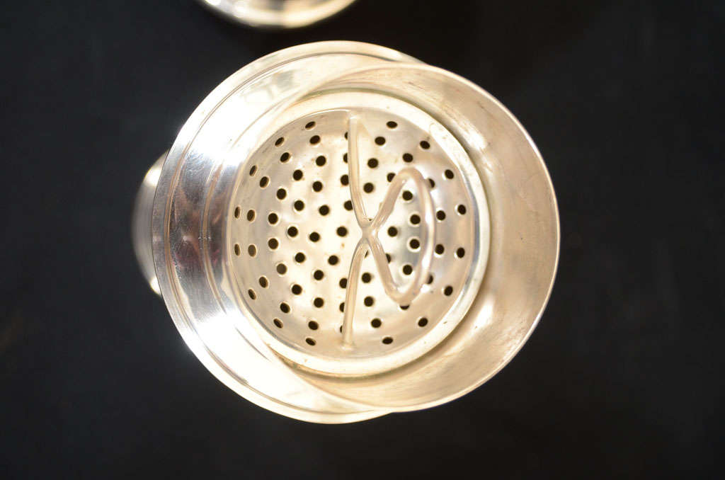 Silver Plate Keith Murray for Mappin & Webb Cocktail Shaker For Sale