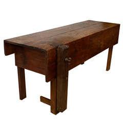 Original, Vintage Industrial, American Made, Work Bench w/Vice