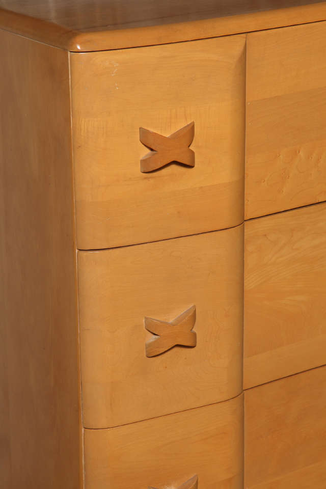 "Heywood Wakefield ""Rio"" Maple Dresser 4"