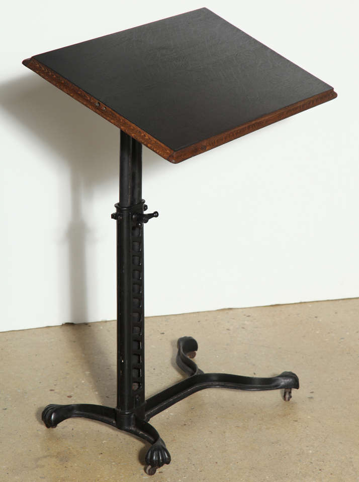 Adjustable Rolling Victorian Bed Side Table At 1stdibs