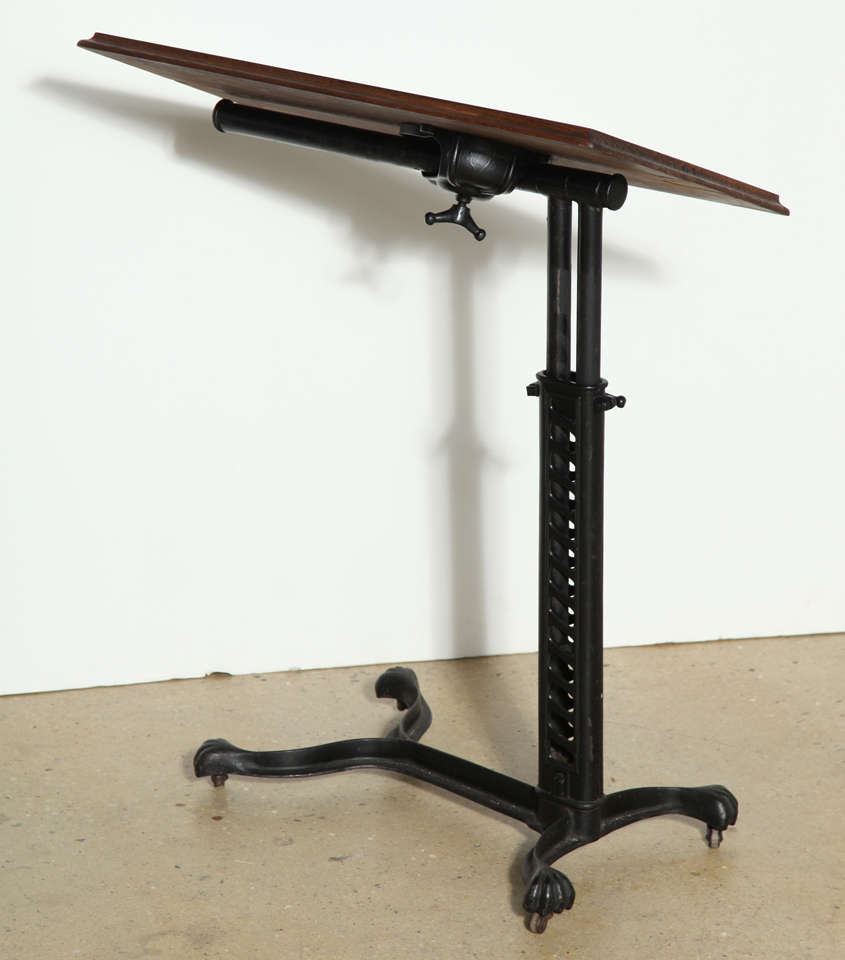 Adjustable, Rolling Victorian Bed Side Table at 1stdibs