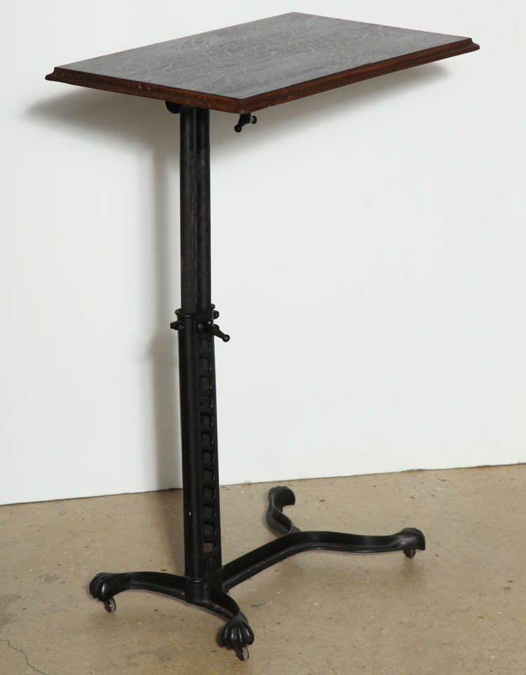 Adjustable rolling victorian bed side table at 1stdibs for Bed and side tables