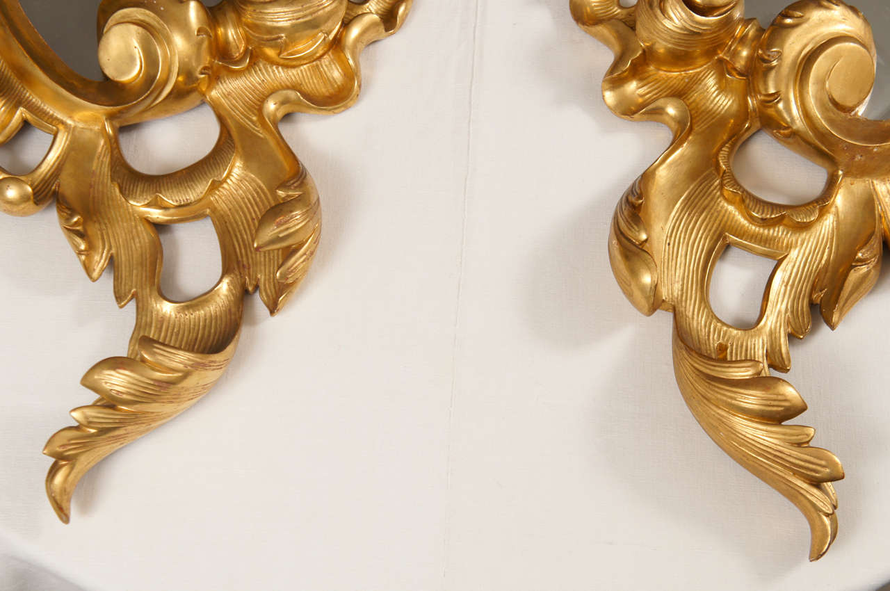 Pair of Late 19th Century Rococo Mirrors For Sale 1