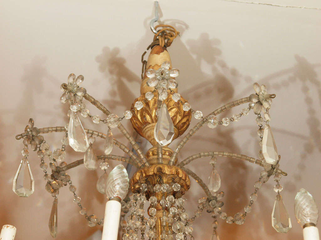 Italian Giltwood Carved Chandlier 3
